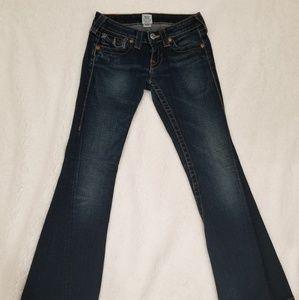 TRUE RELIGION Joey Size 24 Inseam 28 Women Jeans